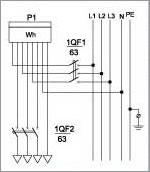 Схемы электрические принципиальные (на одну квартиру)