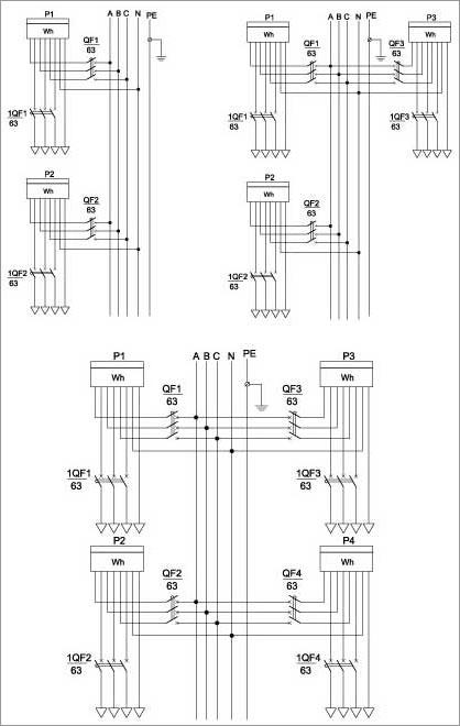 Схемы электрические принципиальные УЭРБ (примеры выполнения)